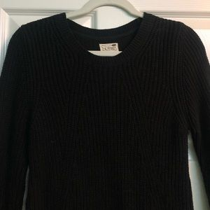 Black Woven Sweater